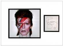 David Bowie Autograph Signed Display